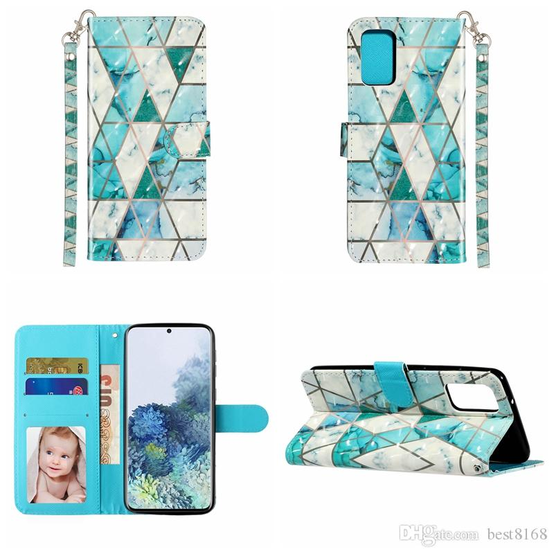 Wallet Case For Samsung S20 Ultra S10 A51 A71 A01 A21 3D Butterfly Leather Wolf Cat Leopard Marble Flower Flip Cover Bear ID Holder Pouch