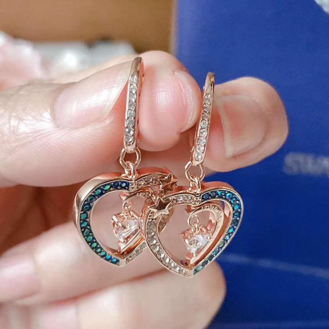 Modische neue Liebe High-End-Luxus-Diamant-Ohrringe heiße Art Ohrringe für Damen
