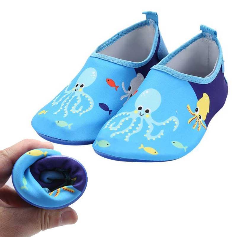 Quick Dry Crianças Meninos sapatos bonito Esporte impressão com anti-derrapante para a sapata Piscina / Praia Crianças Boy Girl Sneakers