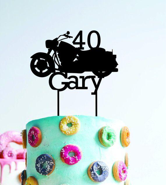 Astonishing 2020 Custom Birthday Cake Topper Personalised With Name Motorbike Personalised Birthday Cards Veneteletsinfo
