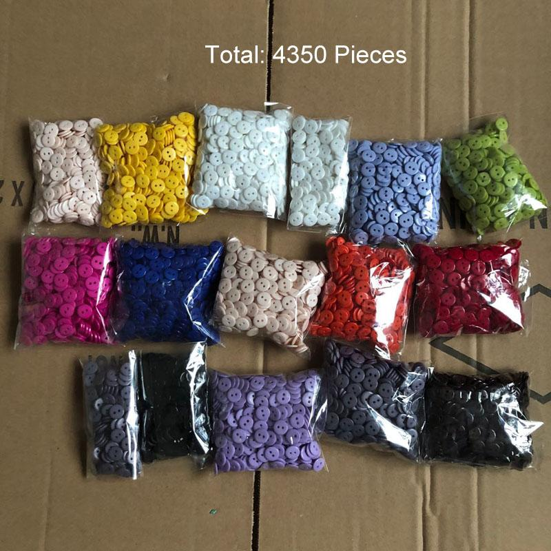 Clearance Item Buttons 12mm Total about 4350 Pieces 13 Colors Mixed