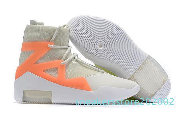 2020 Женщины Мужчины Boots Новый страх Божий 1 Противотуманная Boots Light Bone Black Mens Роскошные дизайнерские повседневная обувь кроссовки платформы обувь загрузки s02