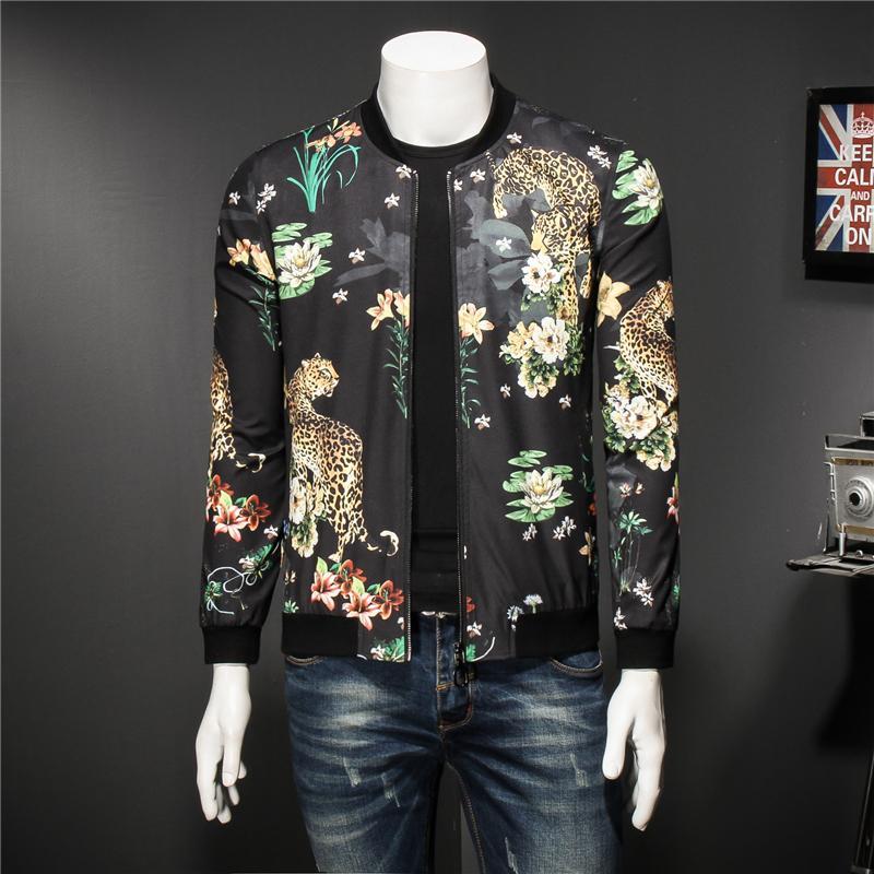 Mens Pattern Jacket Fashion Print Male Jacket Classic Designer Bomber Jackets Men Party Club Outfit Men Oversize 5xl