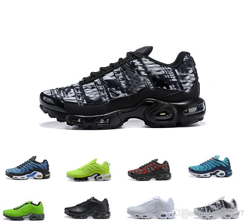 Compre 2019 Air Men Nike Air Max Plus Tn Ultra SE Negro Blanco Gris Verde Zapatillas Hombre Maxes Zapatos Al Aire Libre TN Zapatillas De Deporte Para