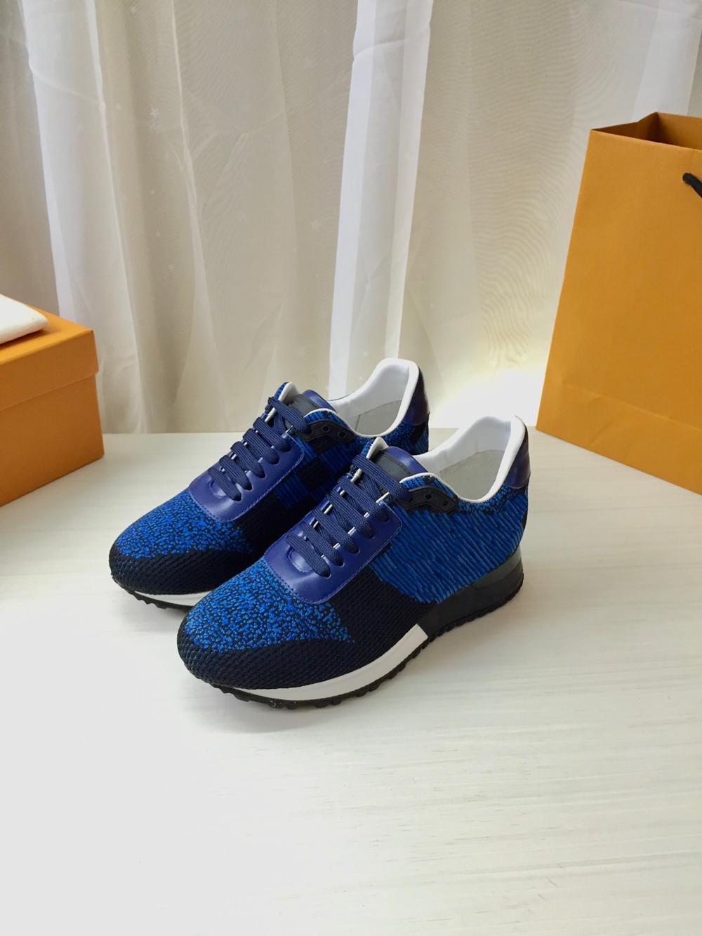 Mens Designer Shoes Blue Black Real