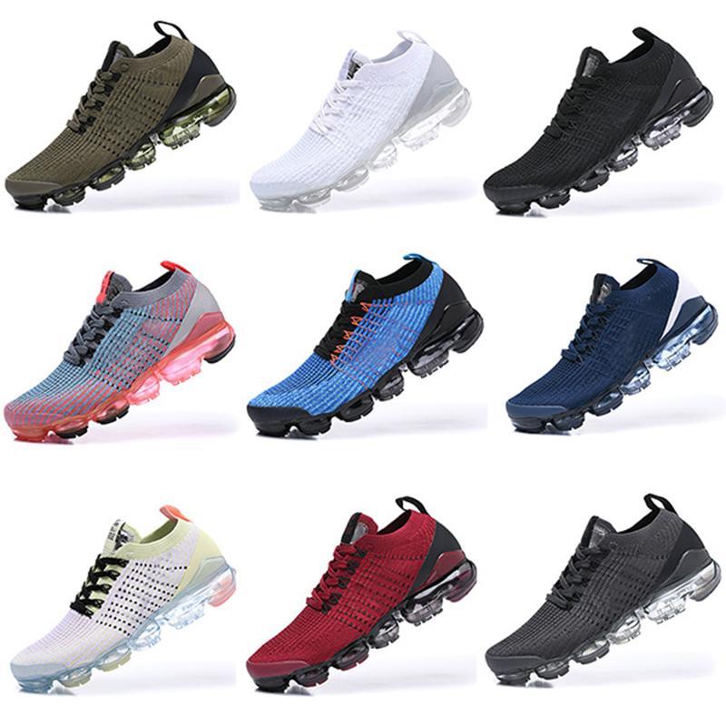 Compre Nike Air Vapormax 2019 2018 Vapormax Flyknit 2.0 Pure Platinum  Hombres Mujeres Transpirable Zapatilla De Deporte De Los Hombres Triple  Negro ...