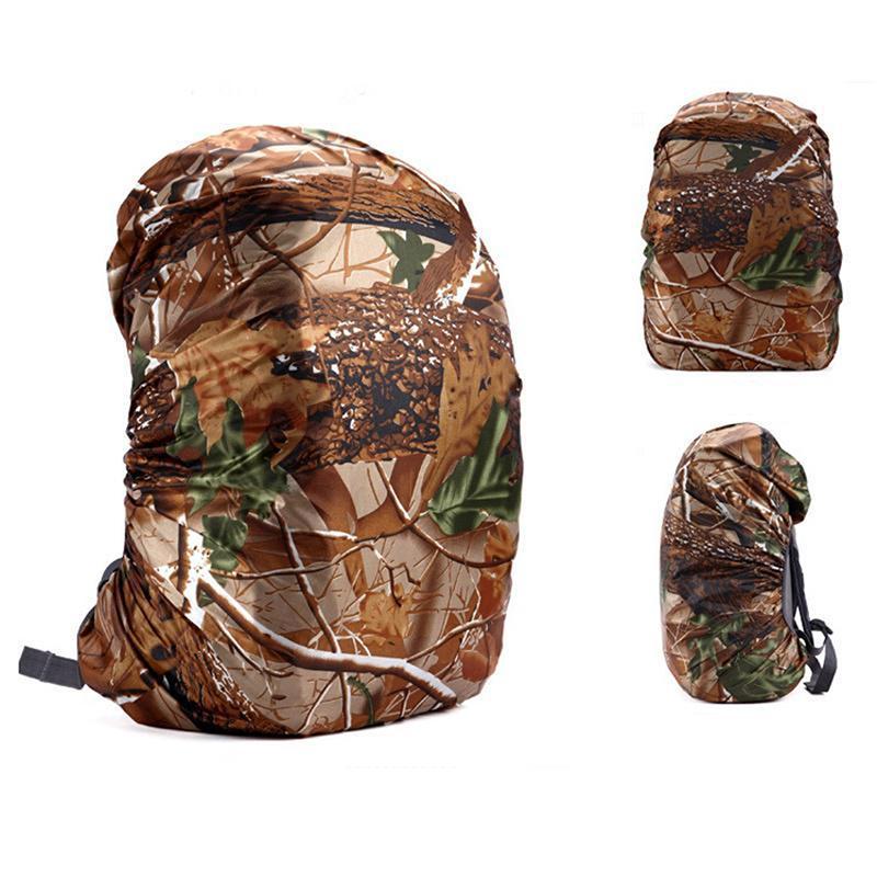 Sports de plein air Camping Randonnée Housse camouflage Sac à dos en nylon Rain Cover école poussière imperméable