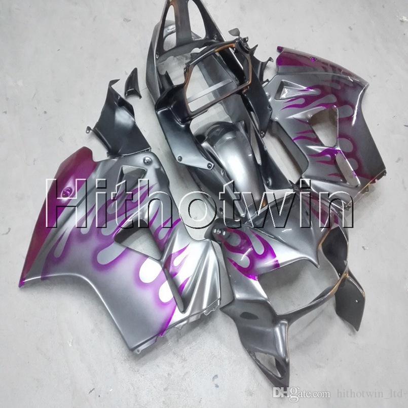 23colors + Schrauben rosa Flammen Motorradhaube für HONDA VFR800 2002 2003 2004 2005 2006 2007 2008 ABS-Kunststoff Motor Fairing