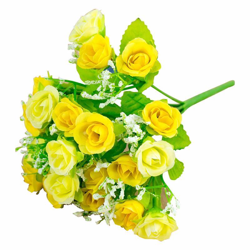 New-Blumenstrauß aus Kunstseide Pfingstrosen-Dekoration für Weihnachtsfest und Hochzeiten Gelb