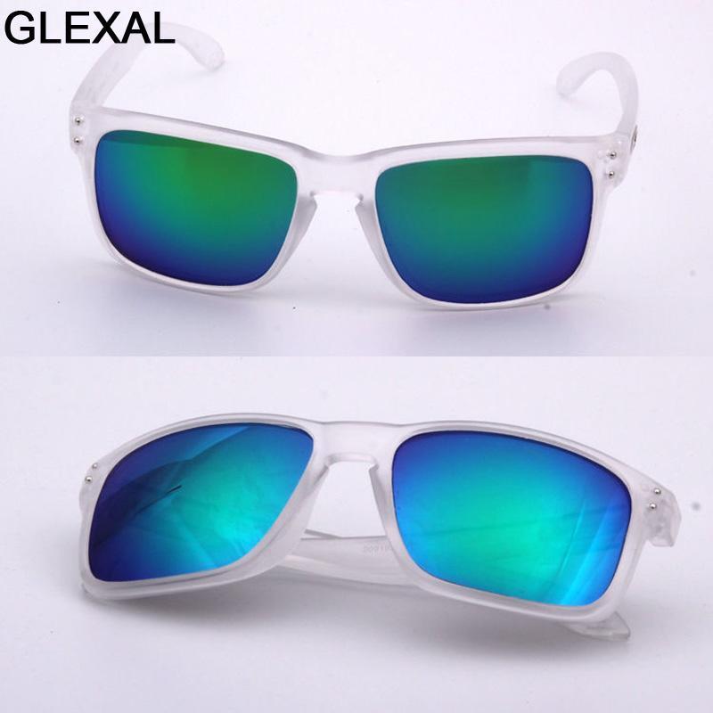 Glexal Mens occhiali da sole delle donne unisex 2018 nuovissimo O Classic moda retrò progettista alla moda Vintage Shades 009.102