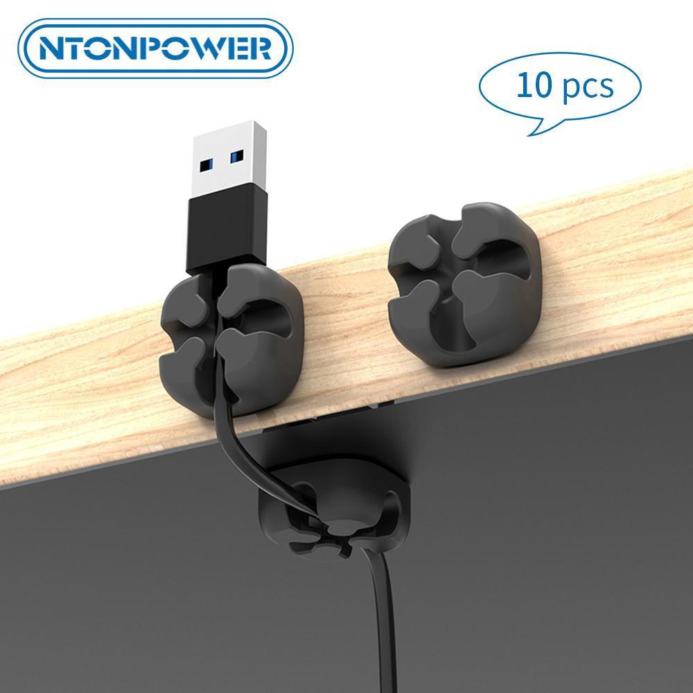 Ucuz NTONPOWER 10pcs Kablo Düzenleyici Tel Sarıcı Tutucu Klip Yumuşak Silikon Kablo Sarıcı İçin Kulaklık Fare Kordon Koruyucu Yönetimi