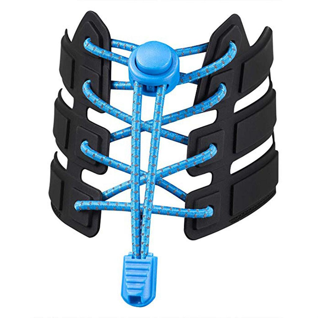 1pair MULTICOULEURS Sneaker Lacets élastique sans cravate Lacets Stretching verrouillage lacets Lazy rapide caoutchouc Lacet Shoestrings # YL10