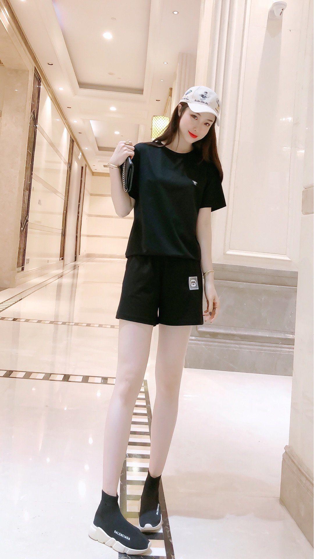 Designer-Frauen 2 Stück Sätze Frauen Trainingsanzug heiße beste empfehlen Verkauf Freies die neue Auflistung Partei einfachen Versand U3OU 5MVM 5MVM