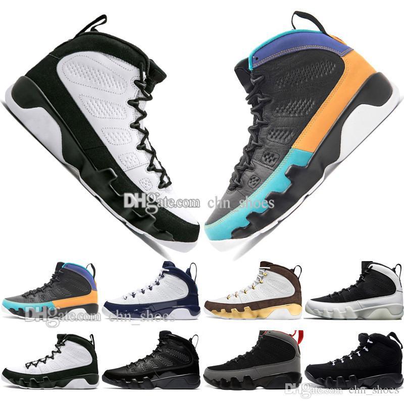 Top qualité New 9 9s de rêve It Do It UNC Mop Melo Mens Basketball Chaussures LA OG hommes Space Jam Bred Anthracite chaussures sport design size40-47