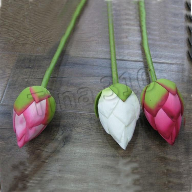 Künstliche Blumen-Kunstseide Lotus Bud Hotel und Restaurant Dekorative Blumen Künstliche Teich Simulation Zuhause-Party SuppliesT2I5435