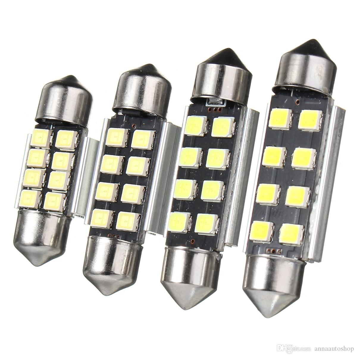 Araba styling LED İç Harita Işık Festoon 36mm 31mm 39mm 41mm 2835 Hata Ücretsiz 8SMD LED Okuma Işık Araba İç Dome lamba Ampüller