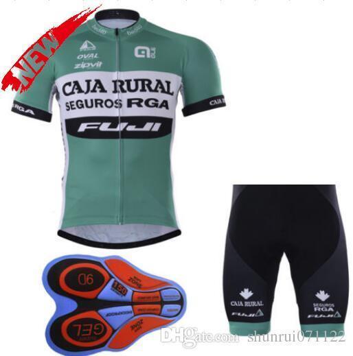 2020 Caja Rural Rennanzug und Hosen Kit Ropa Ciclismo Breath Bike Bekleidung Quick-Dry-Fahrrad-Sportwear Ropa Ciclismo Gelkissen