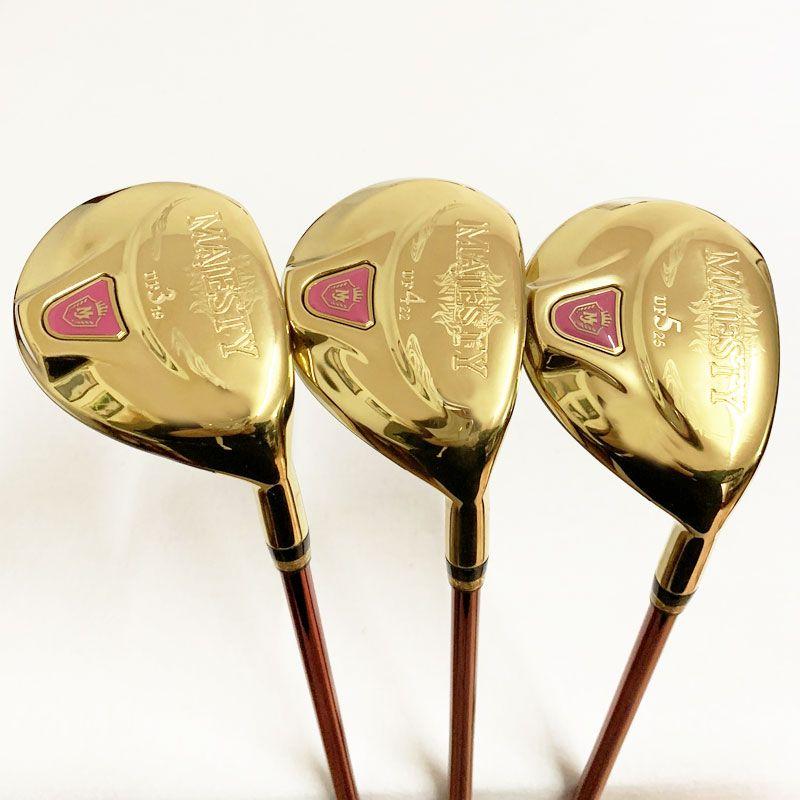 Womens Golf ibrido di legno club Maruman Majesty Golf legno UF2 / 16 UF3 / 19 UF4 / 22 UF5 / 25 Graphite Golf albero headcover L flex