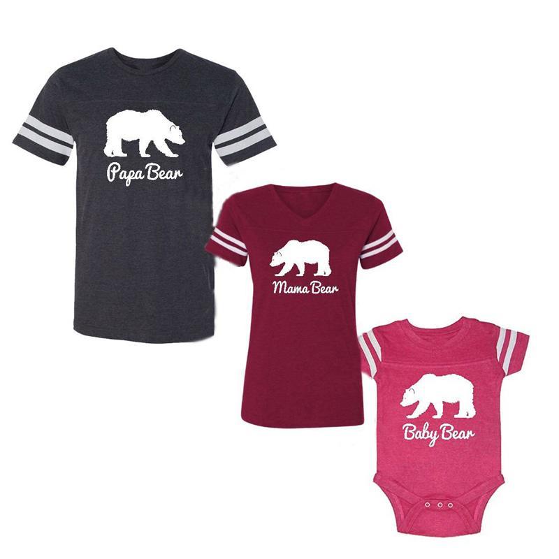 Lovely Family Identische Kleidung T-Shirt Vater DADDY MAMA MÄDCHEN Jungen Strampler T Tops T-Sirt