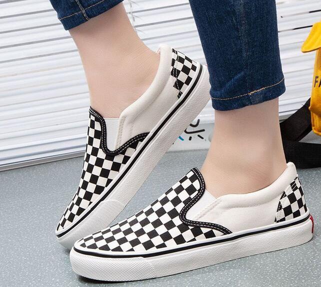 chaud 2018 hommes de la mode et les femmes collection de chaussures de toile occasionnels chaussures hommes chaussures plat des femmes size35-45