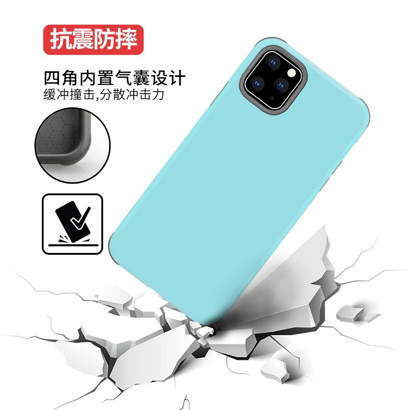 Hybird 2 in 1 Slim Protective Case For iPhone 11 x xr 7 Plus Armor cover for Samsung Galaxy S10 lite S10 S10 plus