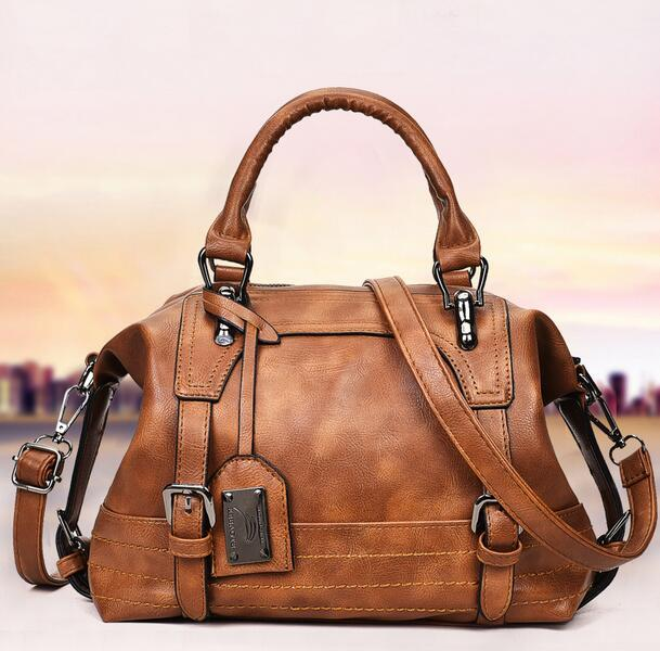 Hot selling Free shipping New style classical Leather shoulder bags Men Women Handbag Motorcycle Bag Big Totes
