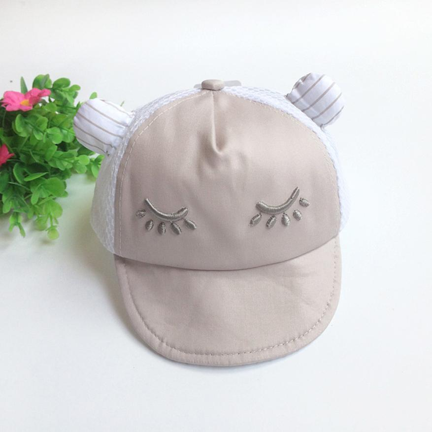 2018 New Arrival Summer Infant Cute Casual Striped Soft Eaves Baseball Cap Baby Boy Girls Hat Cute Stylish bebe August 13
