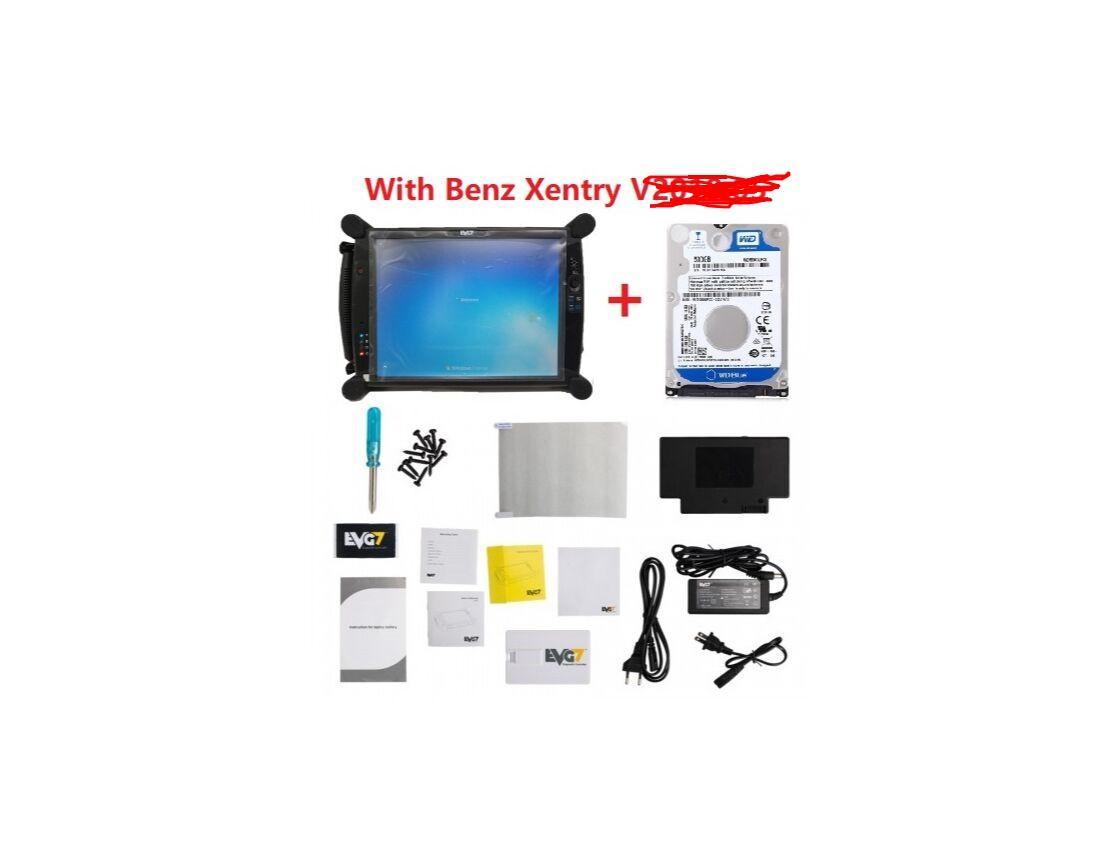 V2020.03 EVG7 Tablet DL46 / HDD500GB / DDR4GB diagnóstico do controlador Tablet PC + Para BMW icom ista e software Xentry