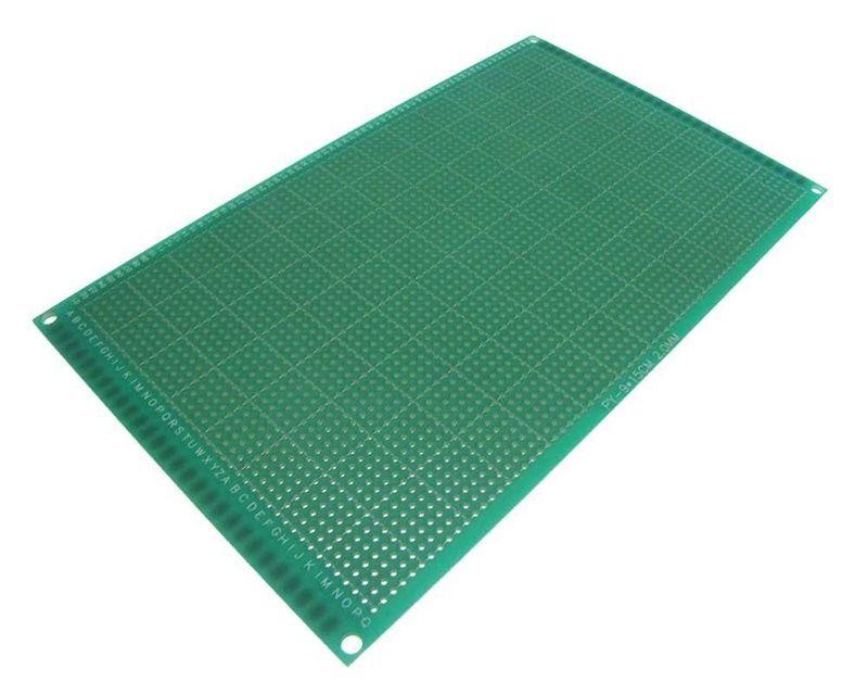 اللوحات الإلكترونية المطبوعة 1.5MM 2.54MM الألياف الزجاجية المتعددة الحجم DIY نموذج مجلس جانبية واحدة PCB العالمي