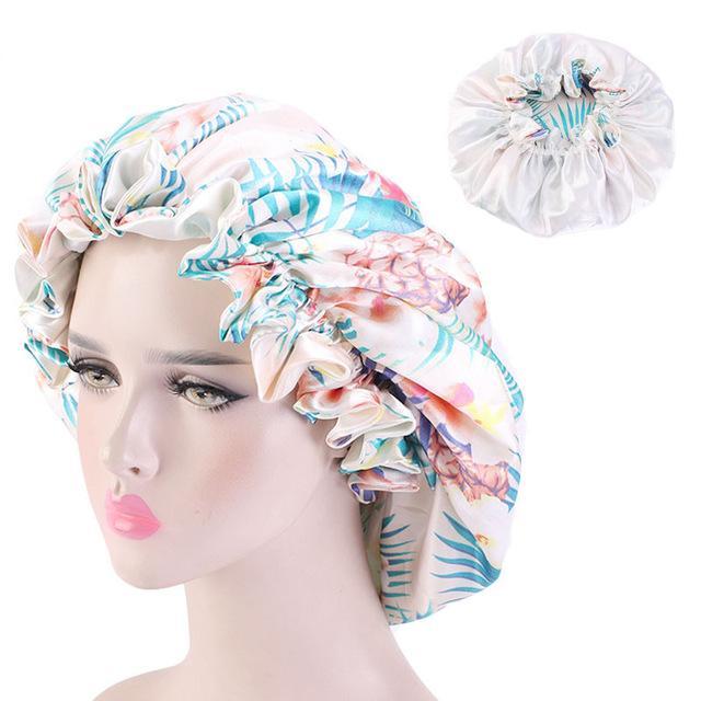 Африканский шаблон новых женщин Анкара Bonnet Женщины Night Sleep Cap атласная подкладка Soft Extra Large Головной убор тюрбан волос Уход Hat