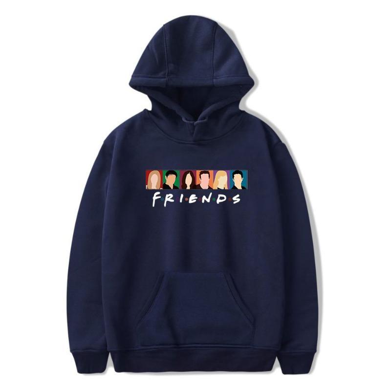 Hot TV Show Freunde Hoodies Männer / Frauen Punk Harajuku-Sweatshirt Art und Weise lange Hülsen-Jacken Oberseiten-beiläufigen Street Pullover