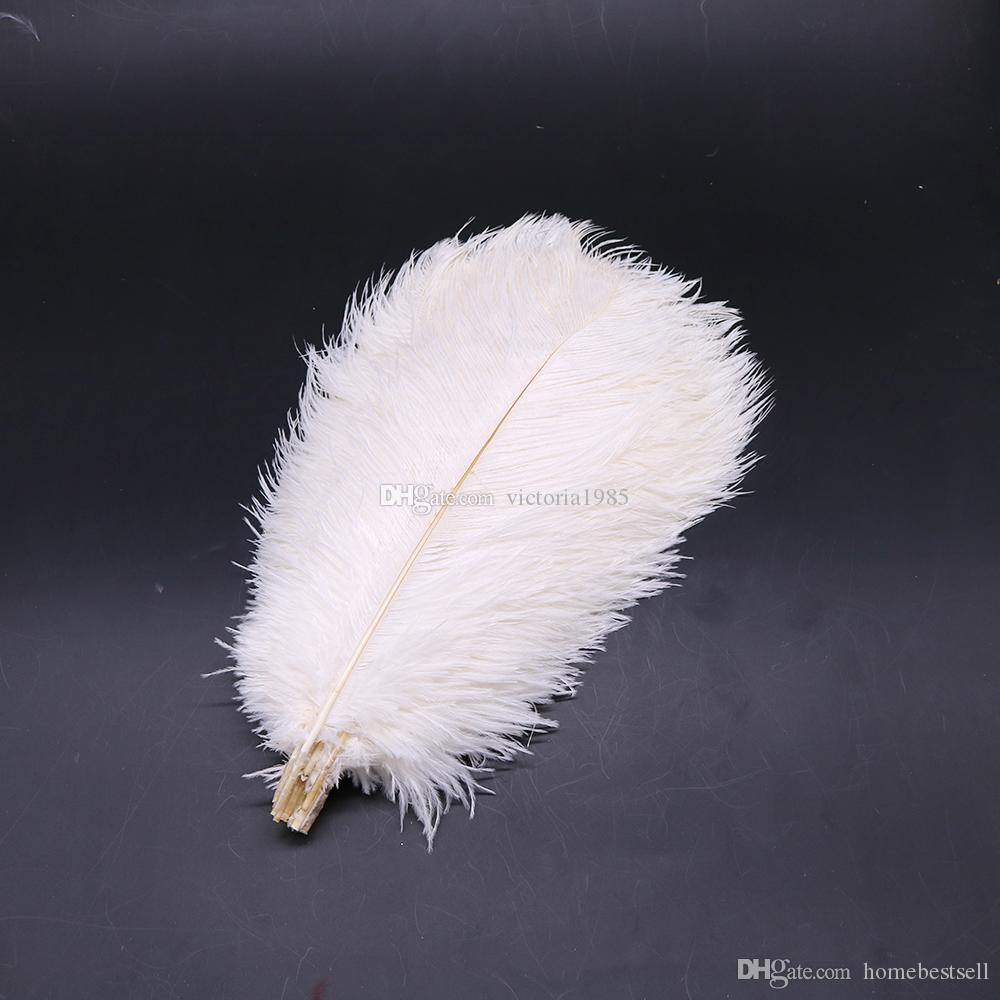 Wholasale высокое качество 35-40 см элегантный белый страусовые перья 15-75 см для ремесла свадебная вечеринка поставки карнавал танцор украшения оперения