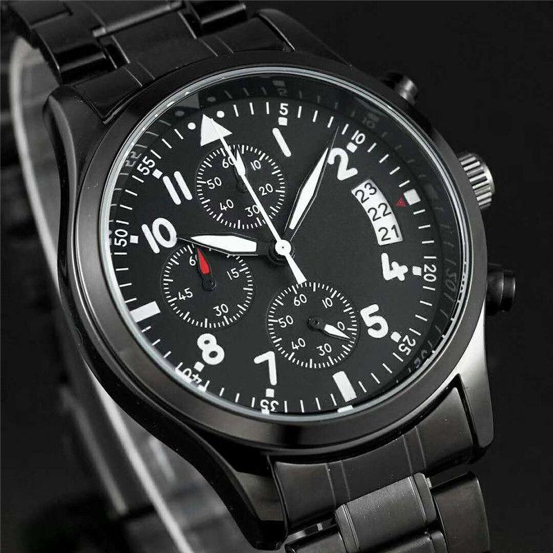 Swiss Marcos relojes correa de acero japonés de todos los diales funcionan de lujo del reloj del deporte para hombre de los relojes de cuarzo relojes relojes para hombre