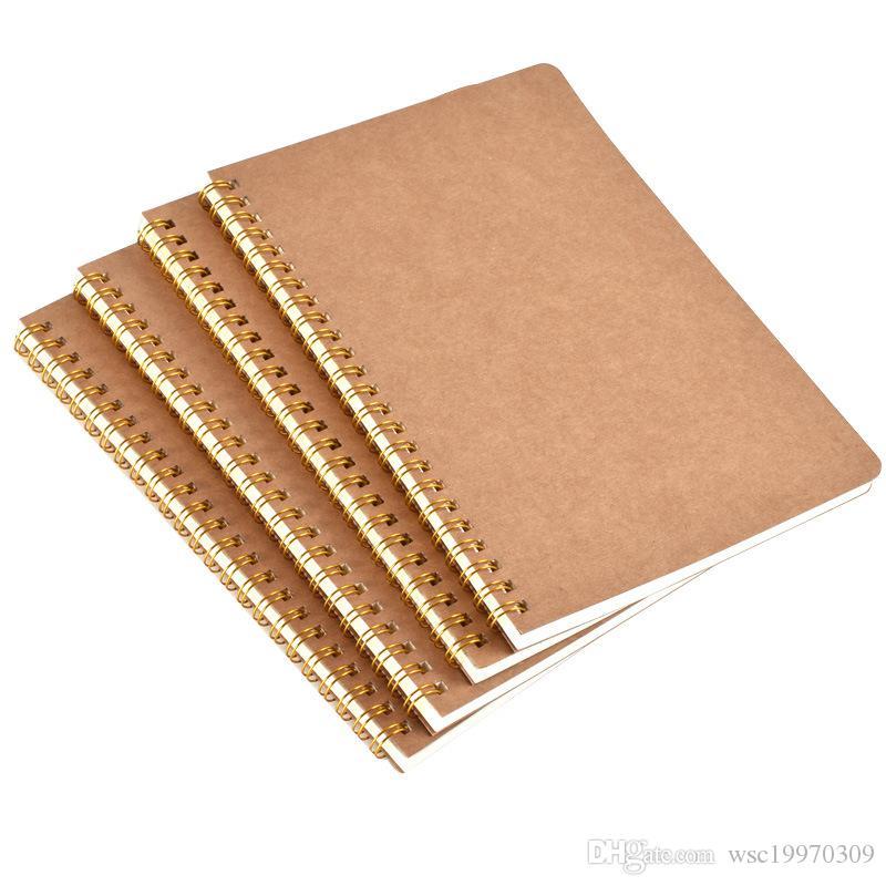 Neu heißen Verkauf A5 Kraftpapier Abdeckung Notebook Dot-Matrix-Raster Spule Schulbüro Business-Tagebuch Notebook Bürobedarf
