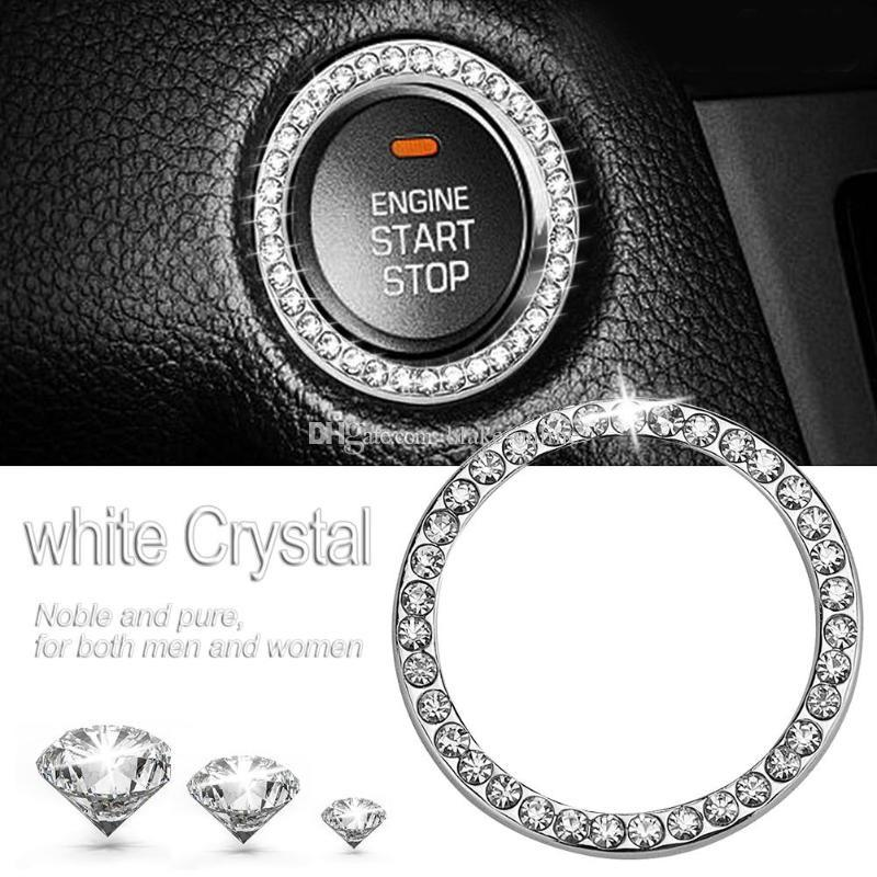 # Car Decorative Accessories Button Start Switch Diamond Ring Sticker Wholesale
