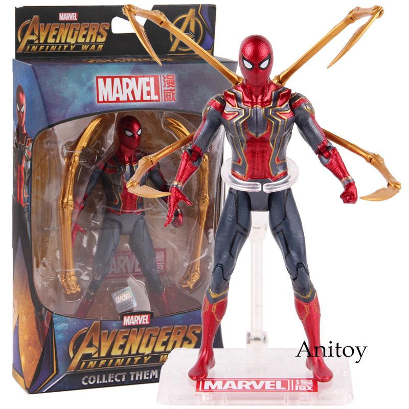 Hot Toys Marvel Avengers Infinity War Iron Spiderman Action Pvc Spider Man Figure Collectible Model Toy 17cm C19041501