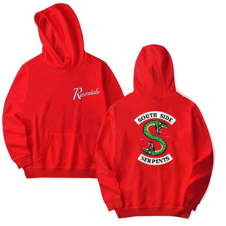 Riverdale Felpe con cappuccio Plus Size South Side Serpenti Streetwear Top Spring Felpe con cappuccio Uomo Donna con cappuccio Pullover Tuta M5