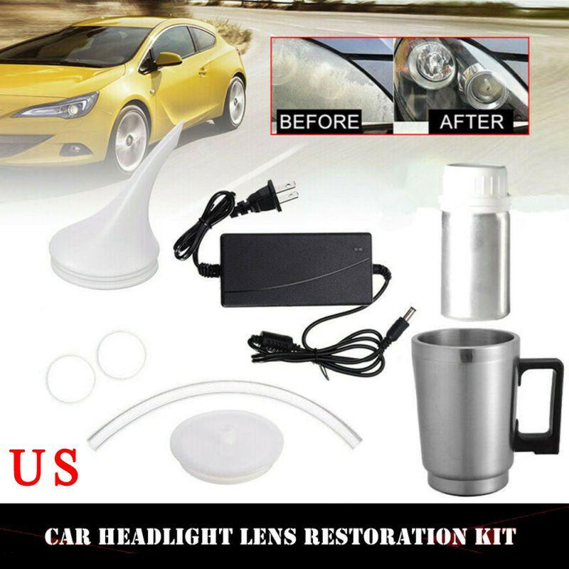 Faro dell'automobile Lens Repair Tool Restauro Riscaldamento atomizzazione Coppa Restore Kit High-end elettrolitico Fodera