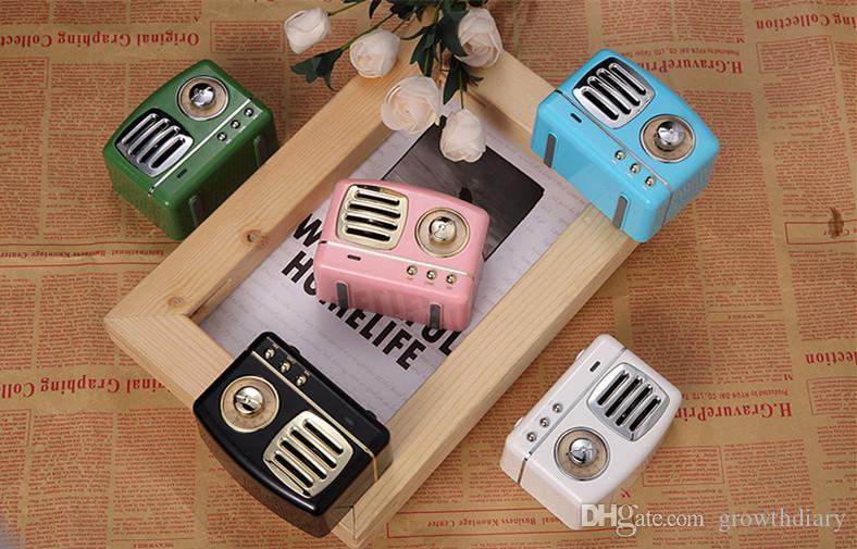 New Wood Bluetooth Speaker HM11 Mini Portable U Disk TF Card High Quality with FM Wireless Music Player for iphone with gift box