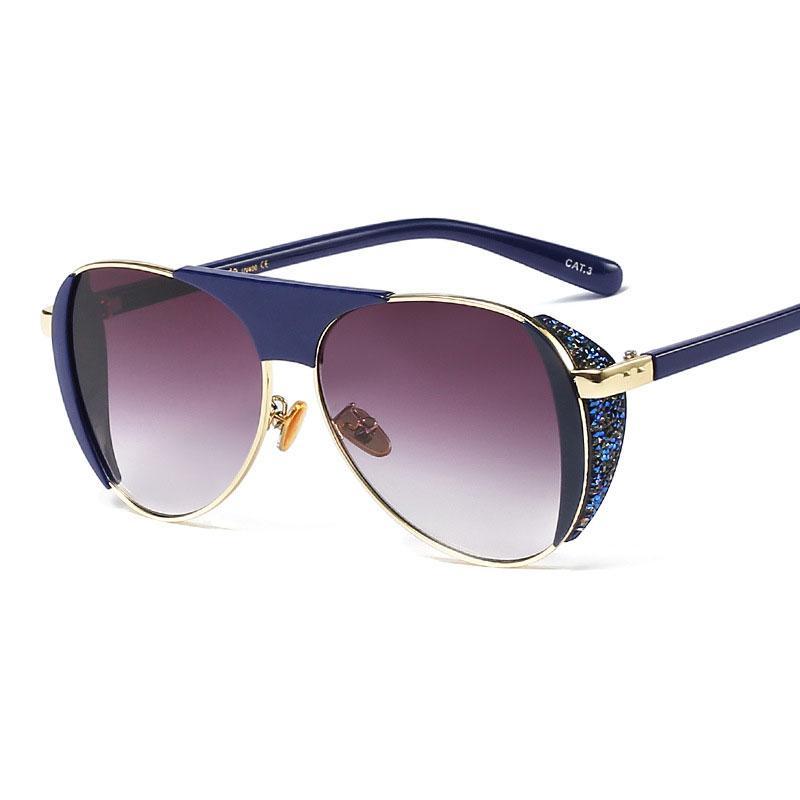 Amantes de las mujeres gafas de sol piloto diseño de marca vintage estilo piloto gafas de revestimiento de alta calidad espejo clásico hombres tonos