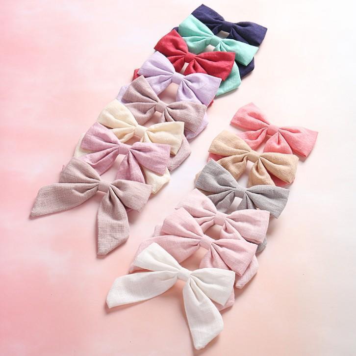 Clipes da foto do bebê Props 14 cores meninas Hot Sale tecido de algodão bowknot Princesa Barrettes Childrens coreano cabelo estilo para Festa