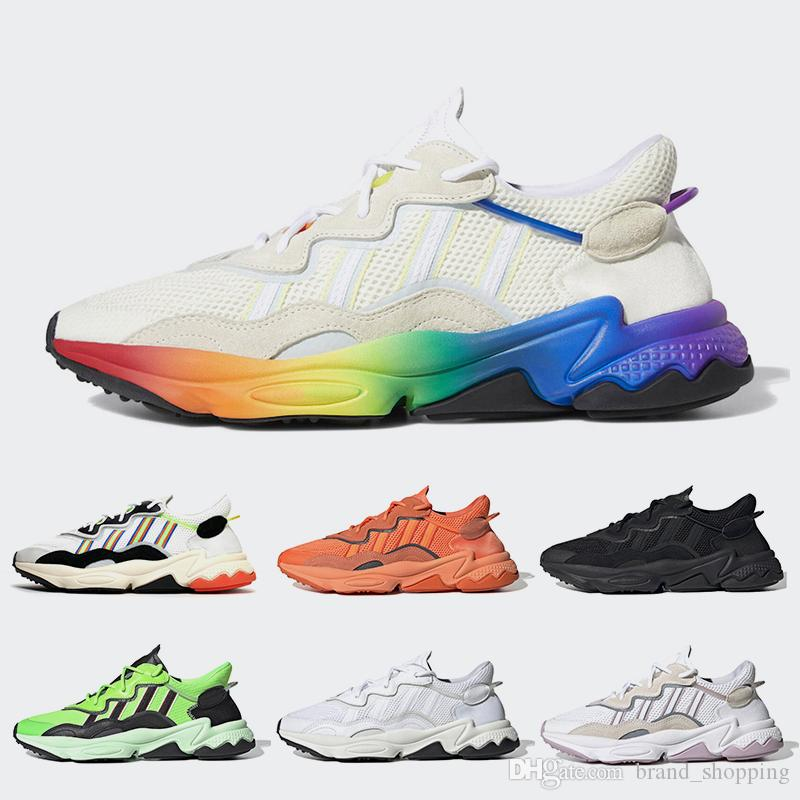 Ozweego Trainers Pride 3M Reflective Xeno Ozweego Women Mens Running shoes Neon Green Solar Yellow Halloween Tones Core Black Sport Sneakers