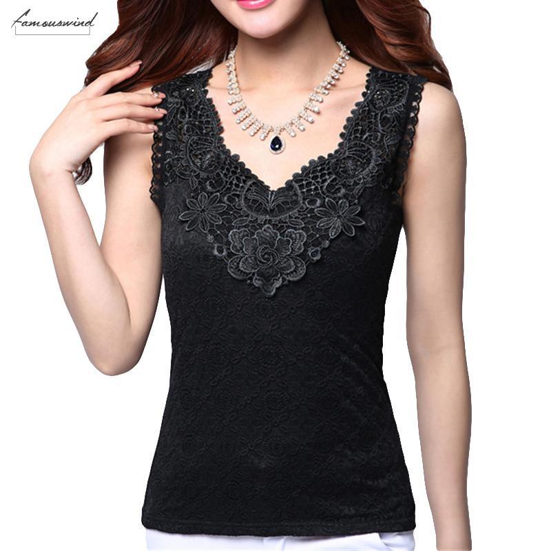 Femmes Sexy Summer Chemisier Chemise noire élégante dentelle au crochet shirt Tops et chemisiers femmes Blusas Camisa Vest Taille Plus