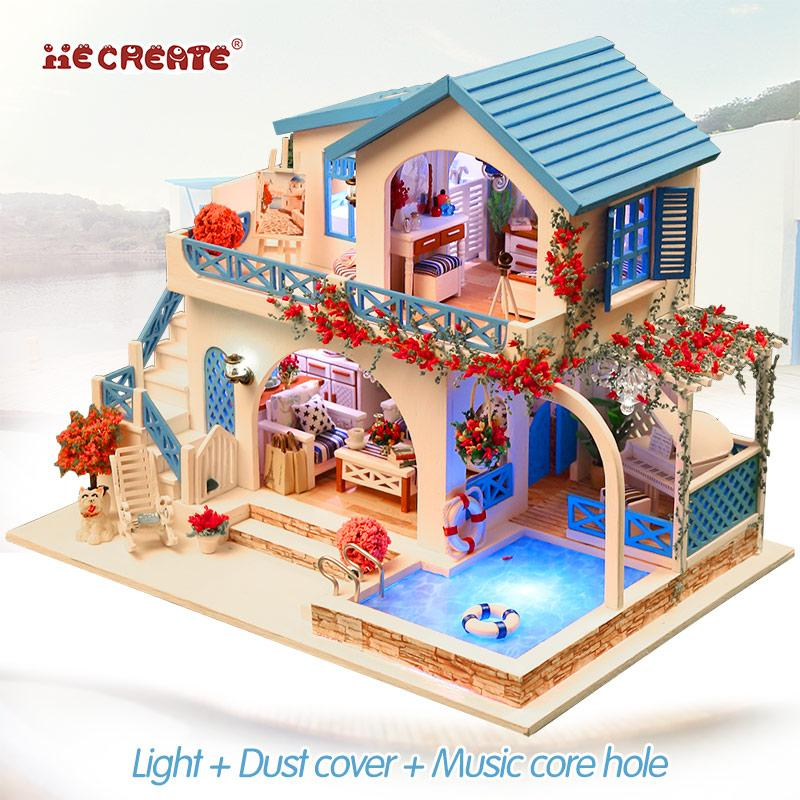 2021 Doll House Diy Furniture With Swimming Pool Girls Toys For Children Dollhouse Miniatures Home Toy Wooden House Romantic Gift From Linda030422linda04 45 83 Dhgate Com