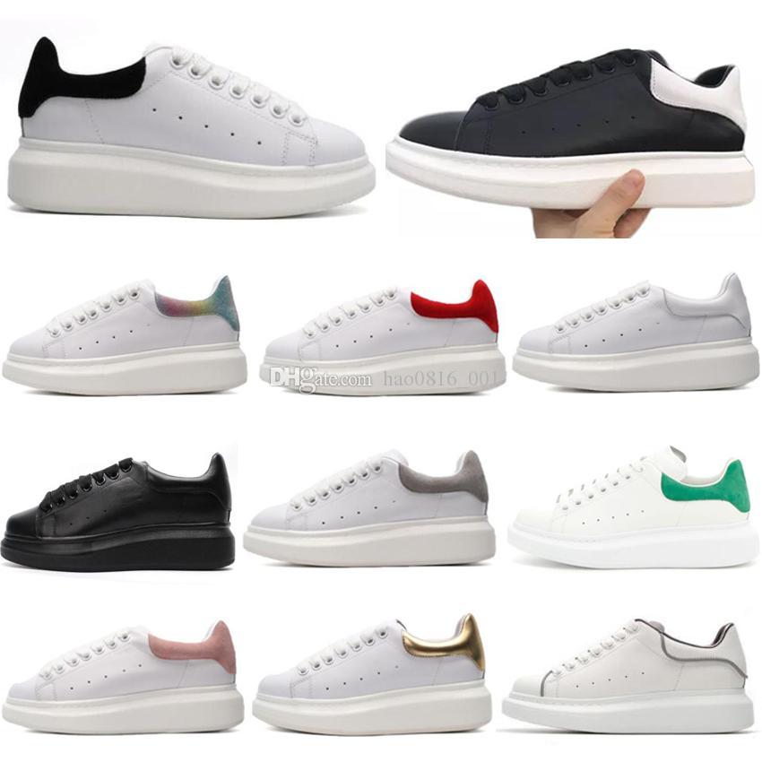 2020 Black Velvet Hommes Femmes Chaussures Chaussures Belle Chaussures plateforme de sport de luxe Designers Chaussures en cuir Couleurs solides Chaussures de