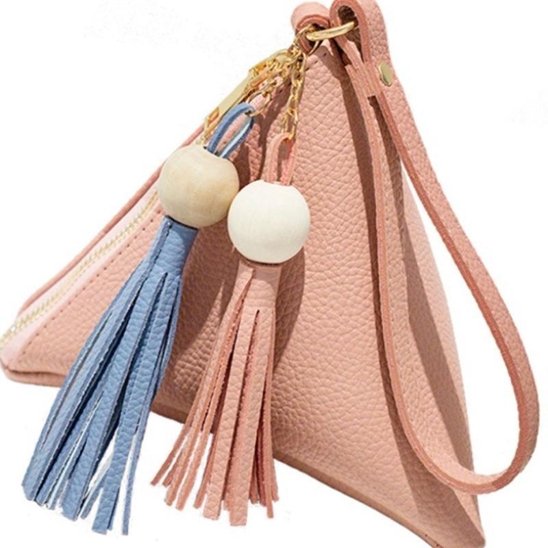 يحشر الثلاثي حقيبة يد جلدية المرأة البسيطة المحفظة الفاصل حقيبة يد سيدة الهاتف عارضة حزمة