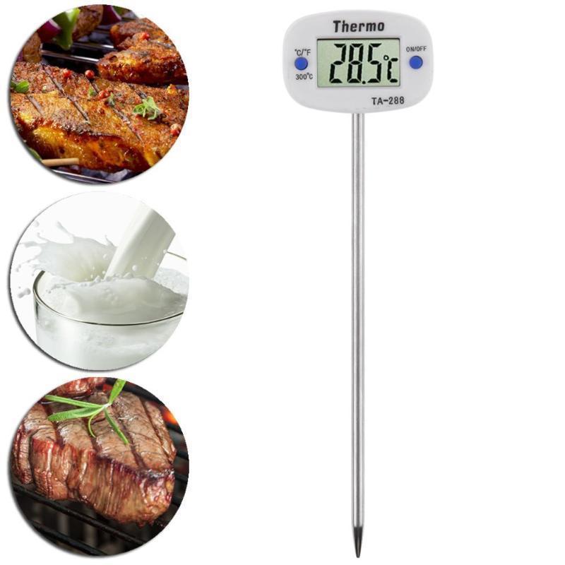 Lcd Digital Alimentaire Thermomètre Sonde Pour Bbq Viande Thermomètre Gadgets De Cuisine Large Tête Lait Thermomètre Liquide