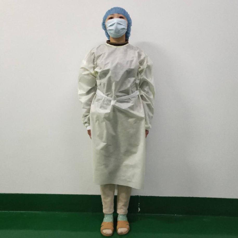 Envío de los EEUU ropa de aislamiento a prueba de agua altamente protectora desechable Ropa Vestidos tela no tejida transpirable de protección se adapta a sistemas
