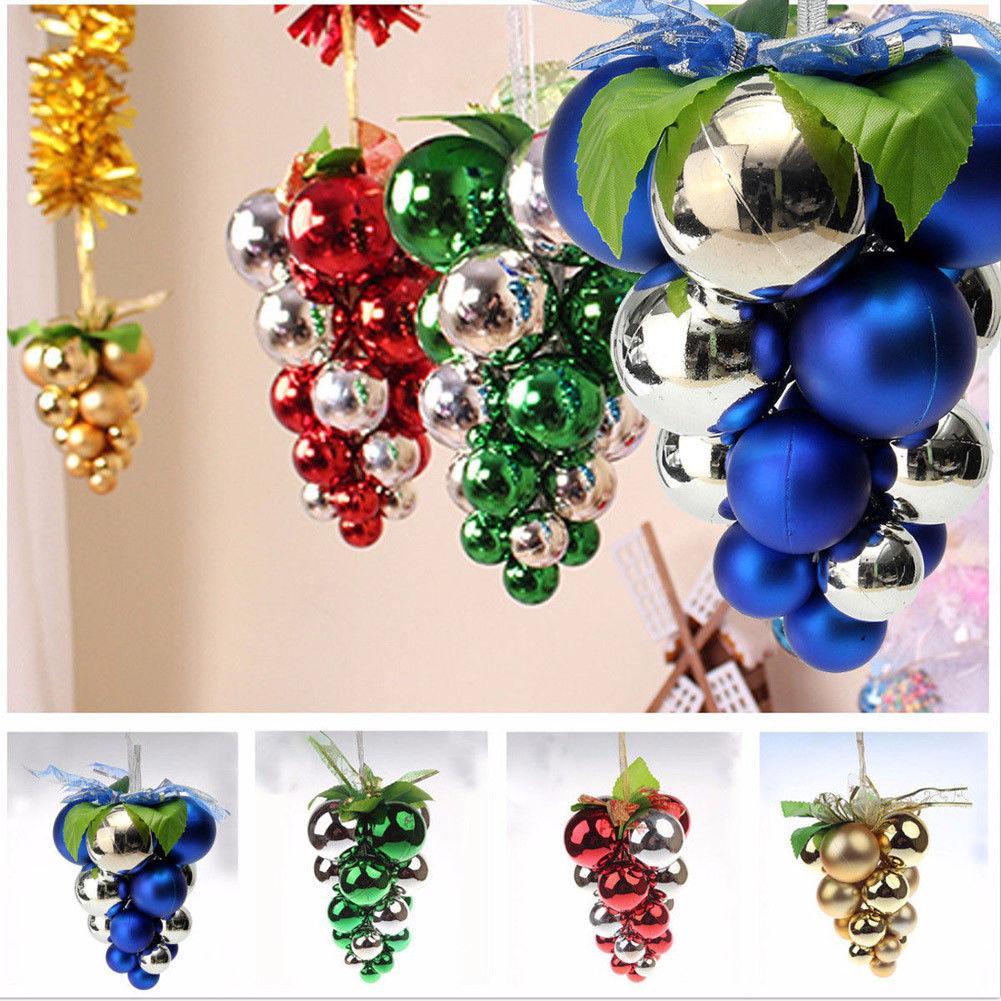 2018 más nuevo caliente 1 unids árbol de navidad bolas de uva colgando adorno decoración fiesta de navidad decoración nueva