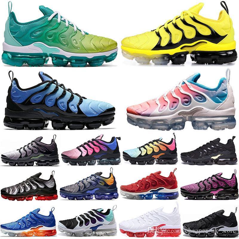 Le plus récent 2019 Tn plus de Rainbow Casual Shoes mens Bumblebee Be True Raisin Triple Noir Femmes Sorbet équipe Sneakers Designer Rouge Noir Blanc